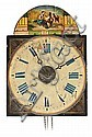 """A """"Lackschilduhr"""" wall clock. Second half of the19th century. Currantly working.34x25x14 cm"""