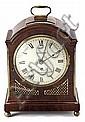 "A mahogany case with bronze decorations ""bracket"" English clock. Early 20th century. 41X30x17 cm"