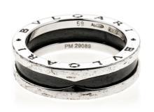 Bulgari, B.ZERO1, silver and ceramic ring
