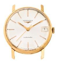 Longines, a gentleman's gold wristwatch box