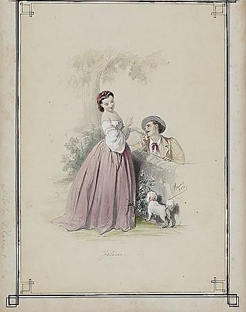 """Eusebi Planas Barcelona 1833-1897 """"Felices"""""""
