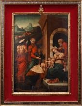 Flemish school, probably from Antwerp, 16th century  The Epiphany