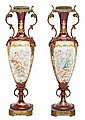 Pair of Sèvres porcelain vases, late 19th century.