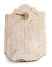 Limestone and iron sundial, late 18th century or early 19th century