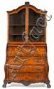 Escritorio-librería holandés en caoba con marquetería de maderas finas, de finales del siglo XIX