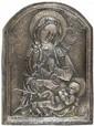 Joan Rebull Reus 1899 - Barcelona 1981 Virgen con el Niño Bajorrelieve en metal plateado