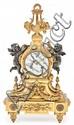 Reloj de sobremesa francés en bronce dorado, de finales del siglo XIX