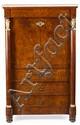 """Secreter """"à abattant"""" español Imperio en palma de caoba y madera tallada y dorada, de principios del siglo XIX"""