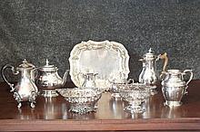 A super quality four-piece tea set, Birmingham 195
