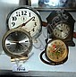 Four various vintage bedside alarm clocks incl.