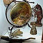 Collection of brass ware etc incl. crocodile nut