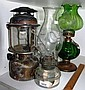 Three various lamps including a clear glass