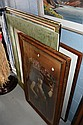 6 various pictures including large antique
