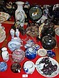 Various oriental ornaments, vases, bowls, ginger