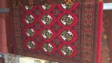 Persian, machine made Turkiman rug, in as new condition, 150 x 100cm