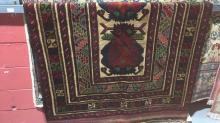 Persian handmade Sumak tribal rug, pure wool, 190 x 130cm