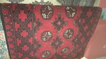 Afghan Turkiman hand made rug, pure wool, 125 x 75 cm