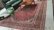Persian pure wool hand woven kashan carpet, all over floral design on a multicoloured ground, 367 x 252cm