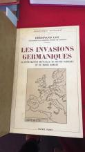 Book: 'Les Invasions Germaniques', by Ferdinand Lot, 1st edition 1935, French language edition, in excellent condition