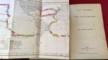 Book: 'Log Letter's from the Challenger', by Lord George Campbell, 1st edition 1876, published by MacMillan & Co London, complete with foldout map