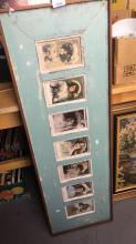 French provinical photo frame set, wall mountable set with a series of Edwardian photos