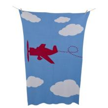 Alek & Luka cot blanket, 100 x 150cm, 10 pcs vintage plane motif,  (original RRP $79.99 each) (sold as one lot of 10)