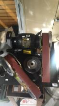 Abbott & Ashby 100mm bench grinder, as new, comes with accessories
