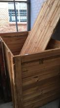 Very large timber crate with lid