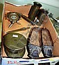 Box containing a good collection of WWI trench art
