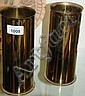 Pair of brass trench art shell case vases WWI with