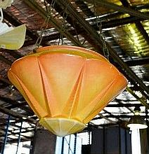 Vintage, Art Deco, glass hanging light shade,