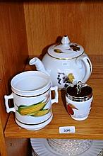 Royal Worcester teapot with side pouring spout,
