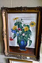 Ernst Fritsch oil on canvas - still life of