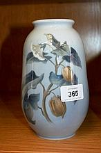 Royal Copenhagen vase, floral design