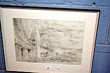 Daniel Patta pencil study - Sydney Harbour Bridge,