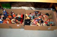 2 boxes: collection of Japanese Geisha doll