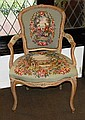 French armchair with tapestry seat & back,