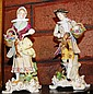 Pair of antique porcelain figurines of man & woman