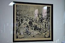 Norman Lindsay print 'Argument', no 191, plate 10,