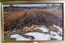 G.G. Chernyavskiy oil on canvas 'The soil', signed