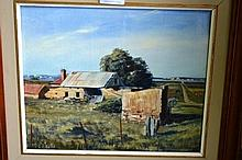 J. O'Reilly oil on board, rural farmhouse, signed