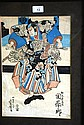 Antique Japanese hand coloured woodblock print
