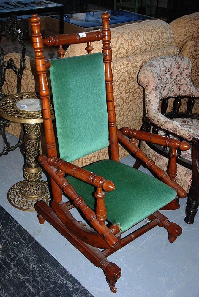Antique Dexter Style Rocking Chair With Platform