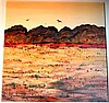 Colleen Parker oil on board, outback landscape