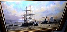 Keith H. Snow oil on board 'R.R.S. Discovery'
