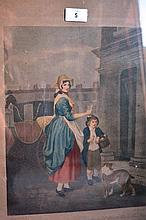 Antique hand coloured engraving 'Cries of London'