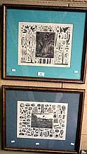 2 x prints of early Botanical engravings, 1 lim/ed