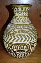 West German pottery vase by Bay with impressed