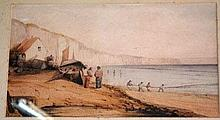 Artist unknown, early watercolour of fisherman