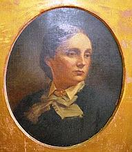 Van Burgh, oil on canvas, portrait of a lady, in